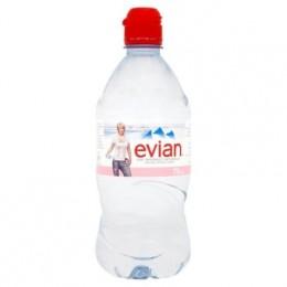 Evian 12 x 75cl Sports Cap